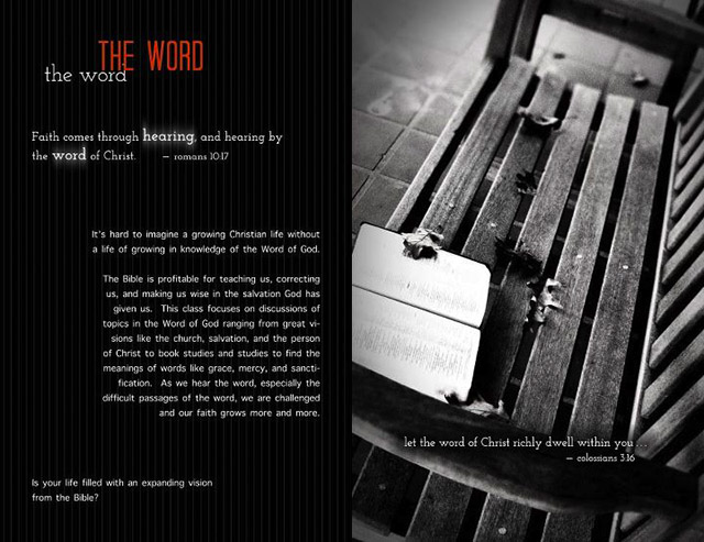 Leaflet page: The Word