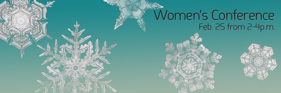 Women's Conference image with snowflakes