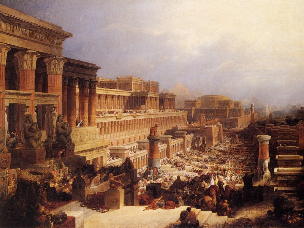 The Israelites Leaving Egypt by David Roberts