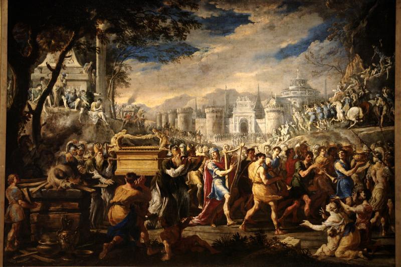 "Painting: ""David bearing the ark of testament into Jerusalem"" by Domenico Gargiulo"