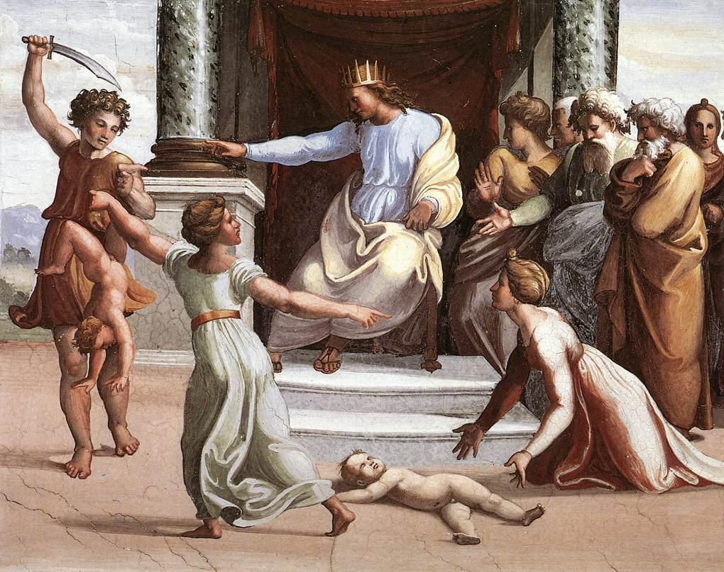 "Painting: ""The Judgment of Solomon"" by Raffael via Wikimedia"