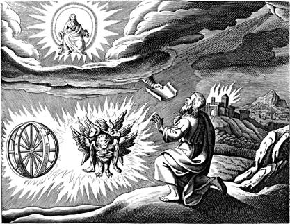 Engraving of Ezekiel's vision