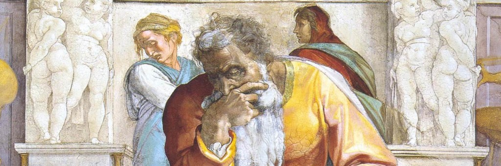 Painting of Jeremiah from the Sistine Chapel